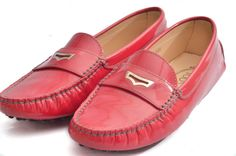 TOD'S Gommino Pink Patent Leather Women's Driving Shoes 40.5