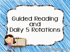 Ideas and tips for Guided Reading and Daily 5  routines
