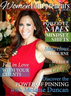 Honored to grace the cover of Women Entrepreneurs Magazine