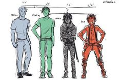 Percy Jackson character heights...I'm not sure I agree with any of these...maybe Nico