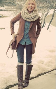 Cute outfit winter fashion outfits, fall winter outfits, look fashion, fash Winter Fashion Outfits, Fall Winter Outfits, Autumn Winter Fashion, Winter Style, Winter Clothes, Winter Wear, Casual Winter, Cozy Winter, Winter Boots