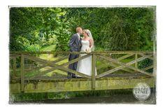Elms Barn Wedding Venue - Suffolk Wedding Photographer - Tim Doyle Photography - Norwich, Norfolk - Bride and Groom on bridge