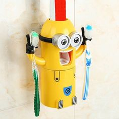 $10.84 Stylish Despicable Me Automatic Toothpaste Dispenser Minion Shape Toothbrush Toothpaste Holder