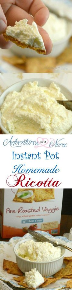 Share with friendsWholesome Eating with Homemade Instant Pot Ricotta Cheese and Van's Fire Roasted Veggie Gluten Free Crackers  ***This is a sponsored post written by me on behalf of Vans International Foods, Inc. The opinions and text are all my own*** All of my readers know how much I love cooking in my Instant …