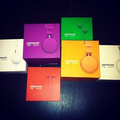Urbanears colored packaging