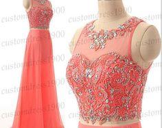 Long Blue Prom DressSweetheart Long Bridesmaid por customdress1900