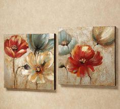 Home Design and Decor , Wall Canvas Art Ideas : Garden Floral Canvas Art Ideas