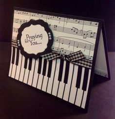 Love the sheet music along with the piano key board, use scrapbooking with kids playing on piano.