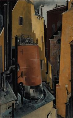 Preston Dickinson:  Industry (1923) via the Smithsonian American Art Museum