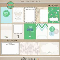 could be used for Spring / EPCOT / Flower & Garden - down the lane (journal cards) by sahlin studio