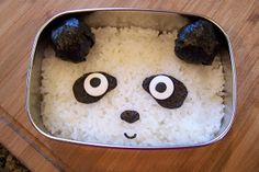 Panda made from Sushi Wrappers and Rice - a Tutorial by Diana Rambles