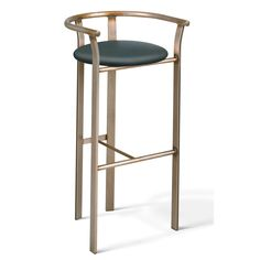 """Amisco Lolo 26"""" Counter Stool- comes in antique brass and black or white fabric/ pleather"""