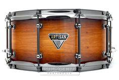 Dixon Artisan Brady Rose Gum Snare Drum 14x6.5 w/ Black Hardware