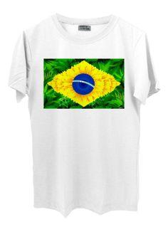 Camiseta Floresta Brasil - Camiseta em malha PV (67%poliéster, 33% viscose).
