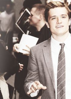 Hutcherson is super attractive. The blonde-Peeta hair isn't my favorite, but I still think he is just as adorable.