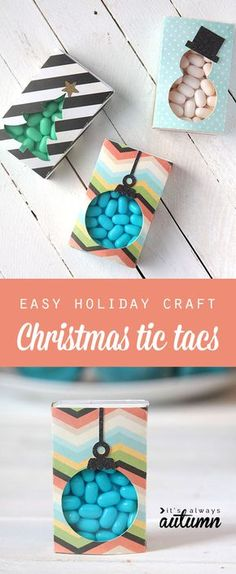what a cute, cheap idea for Christmas gifts for the kids' friends or neighbors! Christmas tic tacs