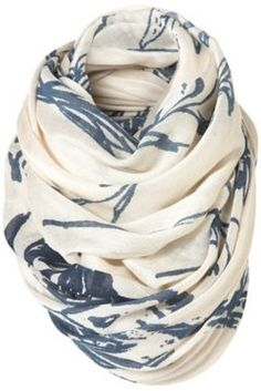 love the loop. love the pattern and colors. I can never have too many scarves.