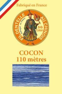 Farbiges Klöppelgarn Cocon Calais Nr. 6947 Ozean