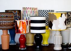 DIY Lampshades! This is a definite maybe. :)