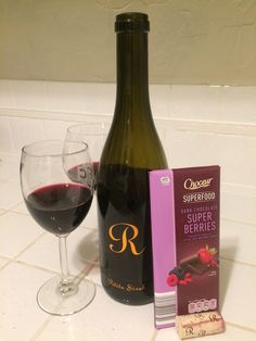 Lots of berry flavor in this chocolate and this wine! The Night Before, Superfood, Red Wine, Berry, Alcoholic Drinks, Chocolate, Bury, Liquor Drinks, Chocolates