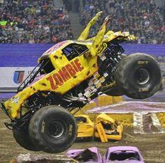 Zombie Monster Truck Cars, Monster Jam, Cartoon Ideas, Monsters, Cartoons, American, School, Vehicles, Modern