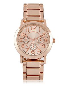 Round Face 3 Eye Bracelet Watch | M&S