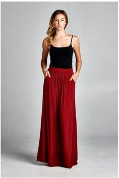 Women's Clothing Aspiring Fashion Women Palazzo High Waist Flare Wide Leg Pant 2019 New Solid Slim Bodycon Stretch Trouser Hot S-xl Bottoms