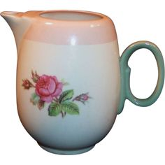 Homer Laughlin Swing Individual  Moss Rose Coffee / Tea Pot