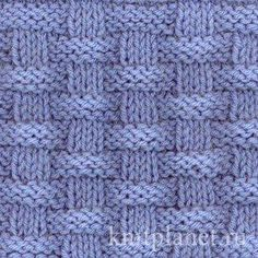 I love simple patterns made of knits and purls - Basket (Wicker) Stitch Pattern knitting pattern chart, Squares, Diamonds, Basket Stitch Patterns Discussion on LiveInternet - Russian Service Online diary - DIY Fashion Pictures This is the easiest baby bl Baby Knitting Patterns, Knitting Stiches, Knitting Charts, Easy Knitting, Loom Knitting, Crochet Stitches, Stitch Patterns, Crochet Patterns, Knitting Squares