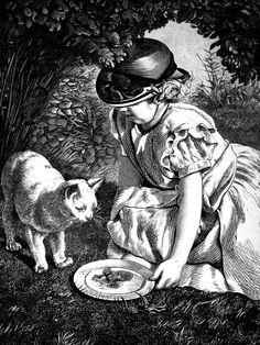 """""""Ada and Her Pet"""" From a Photograph by Mr. Cobb.  From our stacks: My Pet's Album. With 130 Illustrations by First-class Artists. Second Edition. New York: George Routledge & Sons. n.d."""