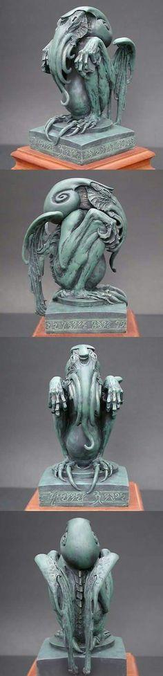 Handcrafted Ebrietas statue