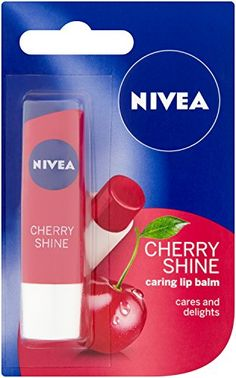 Cosmetics UK - Nivea Shine Caring Lip Balm, 4.8 g, Pack of 12
