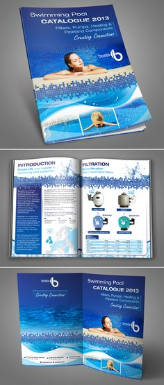 Bosta needs a new fresh brochure design (A4-template)for the swimmingpool industry! Brochure design #28 by Iulia Tatar
