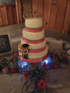 Rustic Wedding Cake ~ Allen Wedding ~ Moore Farms Rustic Wedding Venue ~ Pryor, OK
