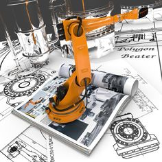 Industrial Robotics. AR presentation of robots directly on the pages specialized magazines: http://polygonbeater.eu/contact/