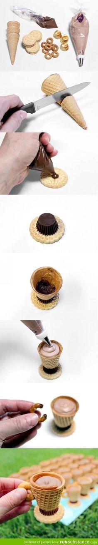 Eating dessert like a sir