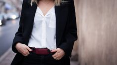 White shirt black wool coat   chaloth.se