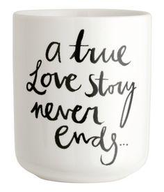 a true love story never ends mug | H&M US