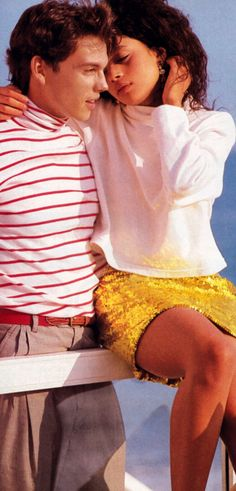 Jason Gedrick and Lisa Bonet photographed by Matthew Rolston for American Vogue, December 1987.