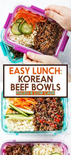 Korean Ground Beef Bowls (Meal Prep!) - Lexi's Clean Kitchen