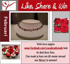 WIN - WIN - WIN: Facebook actie Februari 2013   -  Repin deze foto op Pinterest en jíj kunt óók kans maken op dit collier van Abrazi!!
