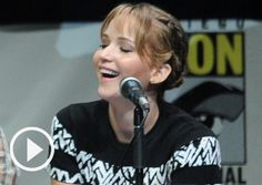 WATCH: Jennifer Lawrence Catching Fire Comic-Con Interview! Does she NOT know about how much the internet loves her?