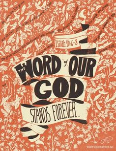 The word of our God quotes faith bible word christian forever scriptures