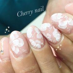 フンワリお花♡  #cherrynail  #チェリーネイル #トールペイント  #お花ネイル #覚王山ネイルサロン #天王寺ネイルサロン