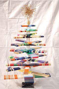 striped christmas tree