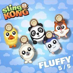 My kong (fluffy 5/5) on game Sling Kong 💖 #SlingKong