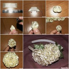 How to Make Ribbon Flowers Step by Step How to Make Ribbon Lush Flower