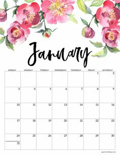 2021 Calendar printable with floral designs to add beauty to your home or office space. January Calendar, School Calendar, 2021 Calendar, Calendar Wallpaper, Print Calendar, Calendar Pages, Blank Calendar, Free Printable Calendar, Printable Planner
