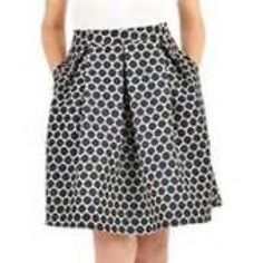 """Blue polka dot skirt This is a flare polka dot dress. I am 5'9"""" and this skirt hits me right below my knees. Has roomy pockets. Because of the great room in this piece and where it hits you at your small waist, this Skirt would fit a size 24 and ABOVE!!!!! Dresses Midi"""