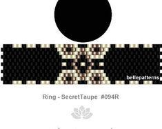 peyote pattern,PDF-Download, #094R, peyote ring beading pattern, beading tutorials, ring pattern